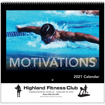 Motivations Wall Calendar - Spiral - 2021