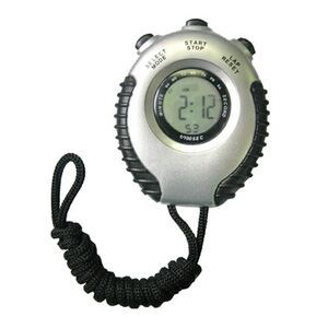 Black Timer with Stopwatch and Neck Strap